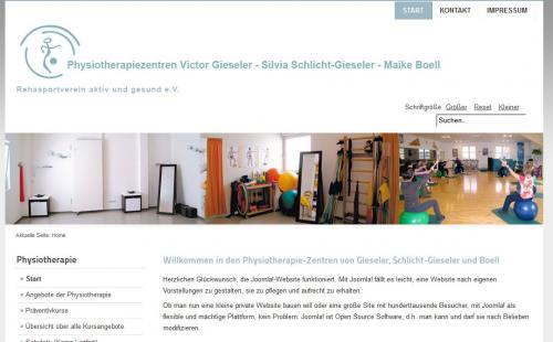 Firmenprofil von: Physiotherapiezentren Victor Gieseler – Silvia Schlicht-Gieseler – Maike Boell in Kamp-Lintfort