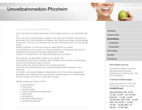 Firmenprofil von: Praxis für Umweltzahnmedizin Glaudan in Pforzheim