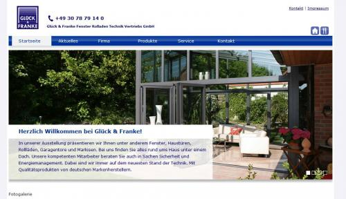 Firmenprofil von: Glück & Franke Fenster Rollladen Technik Vertriebs GmbH in Berlin