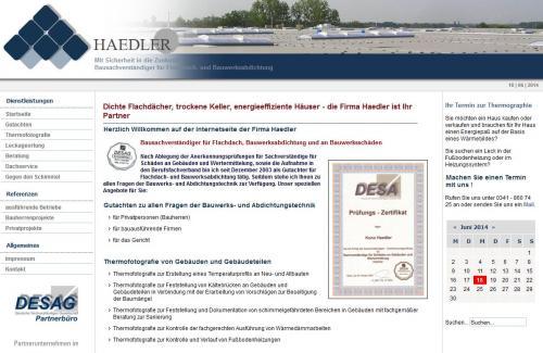 Firmenprofil von: Bausachverständige für Flachdach- und Bauwerksabdichtung Haedler in Leipzig