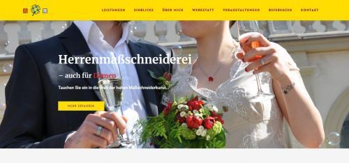 """Firmenprofil von: Ihre Maßschneiderei für Hochzeitsmode: """"Die Glücksschneiderei – Maßarbeit vom Feinsten"""""""