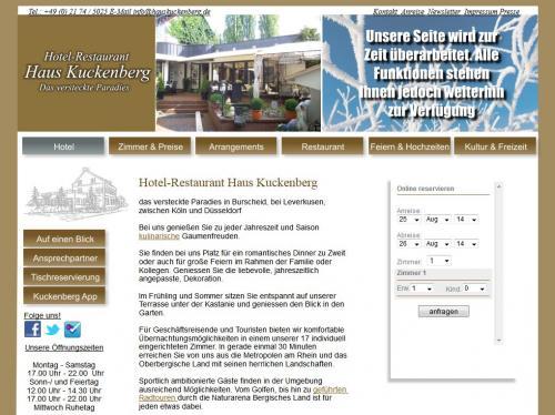 Firmenprofil von: Hotel Restaurant Haus Kuckenberg in Burscheid