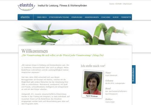 Firmenprofil von: Elastós Institut für Leistung, Fitness & Wohlbefinden – Stressbewältigung in Deidesheim