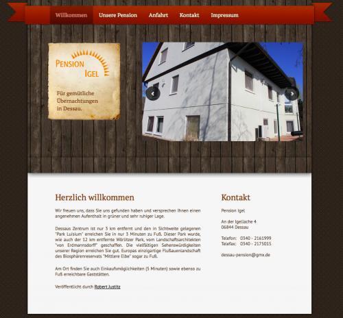 Firmenprofil von: Pension Igel in Dessau