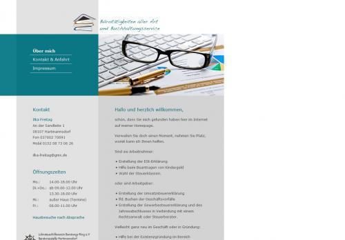 Firmenprofil von: Buchhaltungsbüro in Hartmannsdorf: Bürotätigkeiten aller Art und Buchhaltungsservice