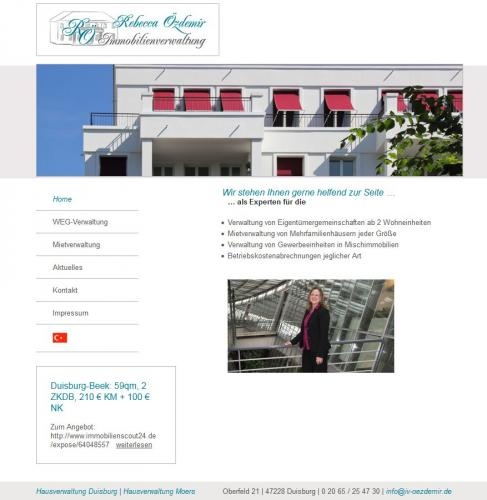 Firmenprofil von: Immobilienverwaltung Rebecca Özdemir in Duisburg
