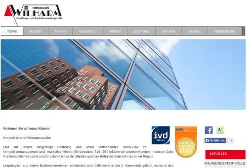 Firmenprofil von: Immobilien in Celle: Wilharm Immobiliengesellschaft und Grundstücksverwaltungen mbH