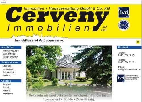 Firmenprofil von: Cerveny Immobilien und Hausverwaltung GmbH & Co. KG in Halle/Saale