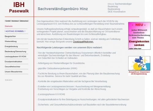 Firmenprofil von: IBH – Sachverständigenbüro Hinz in Pasewalk