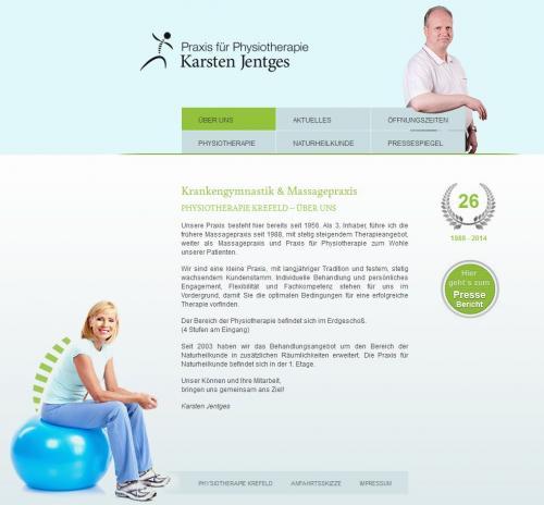 Firmenprofil von: Praxis für Physiotherapie Karsten Jentges in Krefeld