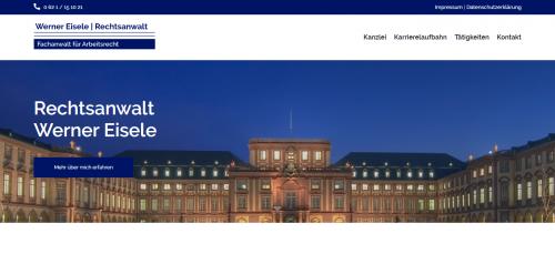 Firmenprofil von: Werner Eisele – Ihr Rechtsanwalt für Arbeitsrecht in Mannheim
