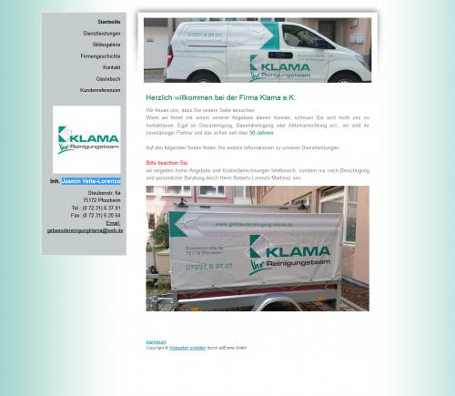 Firmenprofil von: Gebäudereinigung Klama in Pforzheim