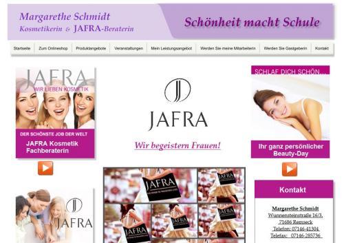 Firmenprofil von: Margarethe Schmidt Kosmetikerin & Jafra-Beraterin in Remseck