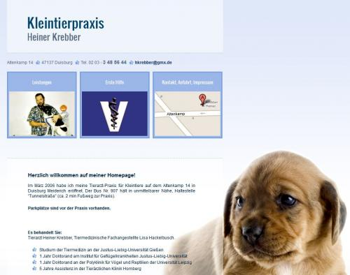 Firmenprofil von: Kleintierpraxis Heiner Krebber in Duisburg