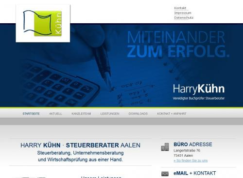 Firmenprofil von: Steuerberater Harry Kühn in Aalen