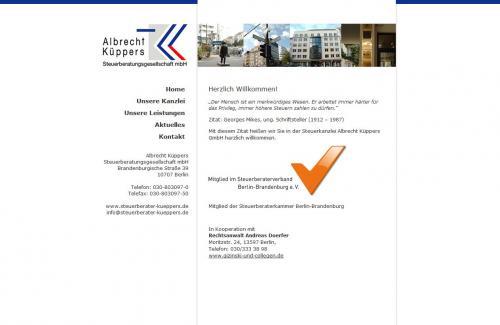 Firmenprofil von: Albrecht Küppers Steuerberatungsgesellschaft mbH, Steuerberater in Berlin