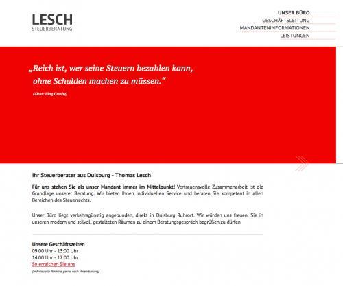 Firmenprofil von: Lesch Steuerberatung in Duisburg