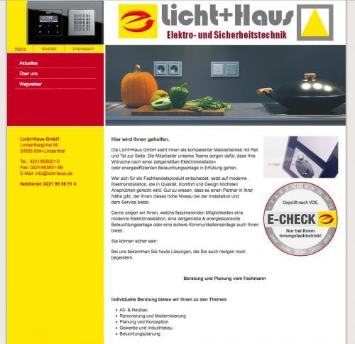 Firmenprofil von: Licht+Haus GmbH – Elektroinstallationen und Sicherheitstechnik in Köln-Lindenthal
