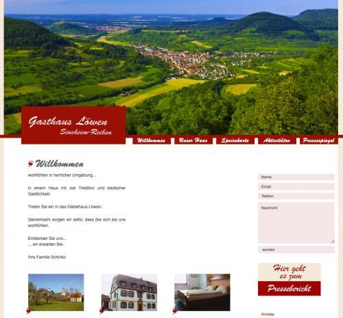 Firmenprofil von: Gasthaus zum Löwen – Fremdenzimmer in Sinsheim
