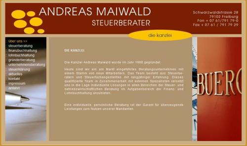 Firmenprofil von: Steuerberater Andreas Maiwald in Freiburg