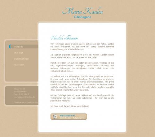 Firmenprofil von: Marta Kaulen – Fußpflege in Kreuzau