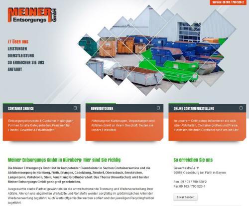 Firmenprofil von: Containerservice und Abfallentsorgung Meiner Entsorgungs GmbH bei Nürnberg