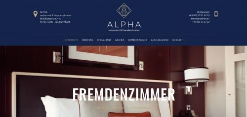Firmenprofil von: Pension Alpha: Modernes Ambiente für Monteure in Fürth
