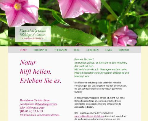 Firmenprofil von: Naturheilpraxis Hildegard Lessner – Heilpraktikerin in Düsseldorf