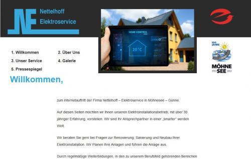 Firmenprofil von: Firma Nettelhoff Elektroinstallation in Möhnesee