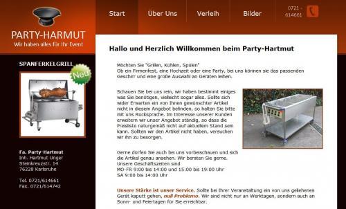 Firmenprofil von: Partybedarf und Geschirrverleih: Party-Hartmut in Karlsruhe