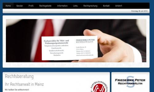 Firmenprofil von: Rechtsanwältin Friederike Peter in Mainz