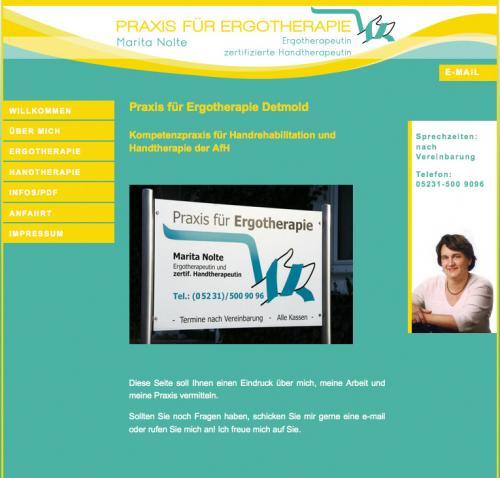 Firmenprofil von: Praxis für Ergotherapie Marita Nolte in Detmold