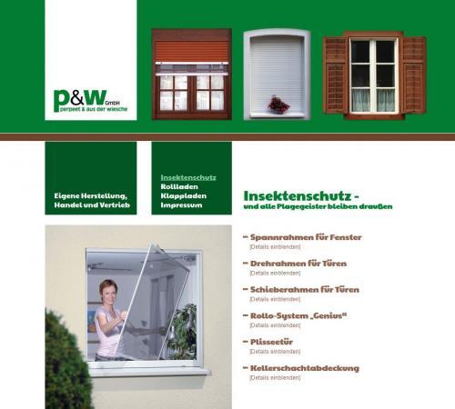 Firmenprofil von: P&W GmbH in Duisburg: Insektenschutz, Rollladen und mehr