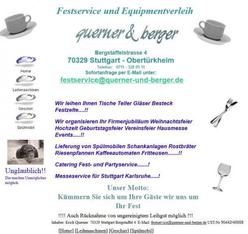 Firmenprofil von: Festservice und Equipmentverleih Querner & Berger in Stuttgart