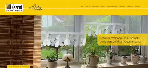 Firmenprofil von: Passgenauer Sonnenschutz von Akzent Innendekoration in Cottbus