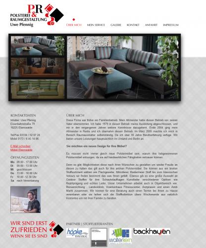 Firmenprofil von: Raumausstatter: Polsterei & Raumgestaltung Uwe Pfennig in Eberswalde