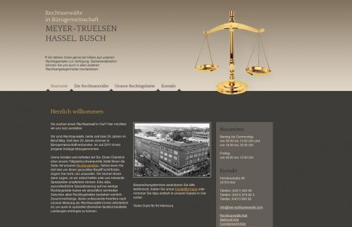 Firmenprofil von: Rechtsanwälte in Bürogemeinschaft Meyer-Truelsen , Hassel, Busch in Kiel
