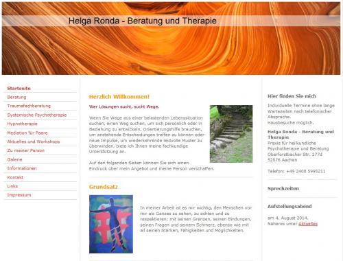 Firmenprofil von: Praxis für heilkundliche Psychotherapie und Beratung Helga Ronda in Aachen