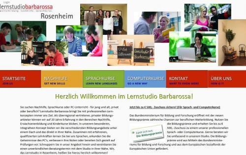 Firmenprofil von: Lernstudio Barbarossa – Weiterbildung, Nachhilfe und Sprachkurse aus Rosenheim