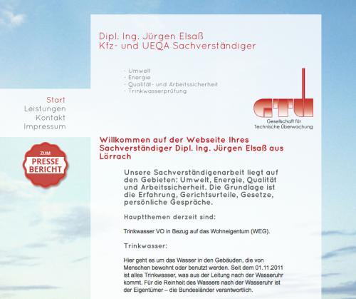 Firmenprofil von: Sachverständigenbüro – Dipl.-Ing. Jürgen Elsaß in Lörrach