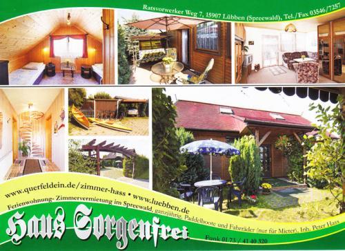 Firmenprofil von: Ferienwohnung-Zimmervermietung im Spreewald – Haus Sorgenfrei in Lübben