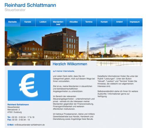 Firmenprofil von: Steuerberater Reinhard Schlattmann in Duisburg