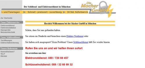 Firmenprofil von: Schlüsseldienst in München: Die Macher GmbH