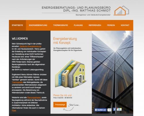 Firmenprofil von: Energieberatungs- und Planungsbüro Dipl.-Ing. (FH) Matthias Schmidt in Köln