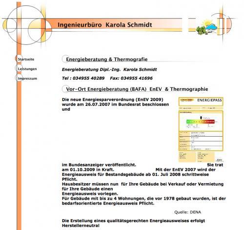 Firmenprofil von: Ingenieurbüro für Energieberatung & Thermographie in Schköna