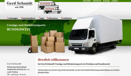 Firmenprofil von: Umzugsunternehmen Gerd Schmidt in Potsdam