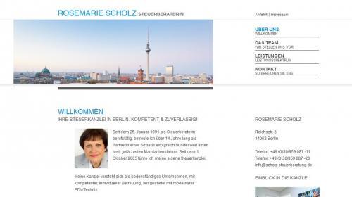Firmenprofil von: Steuerkanzlei Rosemarie Scholz in Berlin