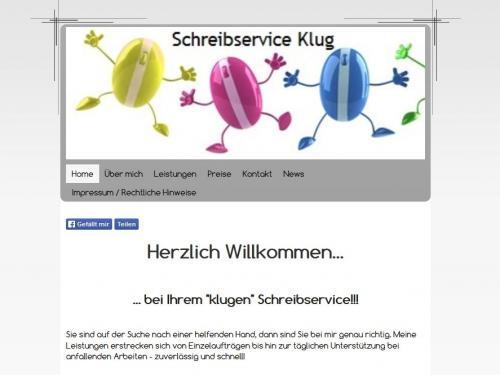 Firmenprofil von: Schreibservice Klug in Moers