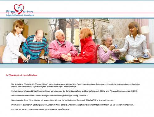 Firmenprofil von: Ambulanter Pflegedienst – Pflege mit Herz in Nürnberg