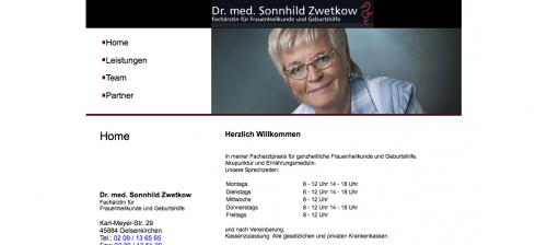 Firmenprofil von: Qualifizierte Fachärztin für Frauenheilkunde in Gelsenkirchen – Dr. Sonnhild Zwetkow